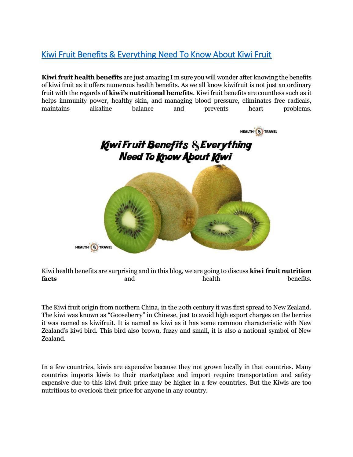 Kiwi Fruit Benefits Everything Need To Know About Kiwi Fruit By Suhas Jadhav Issuu