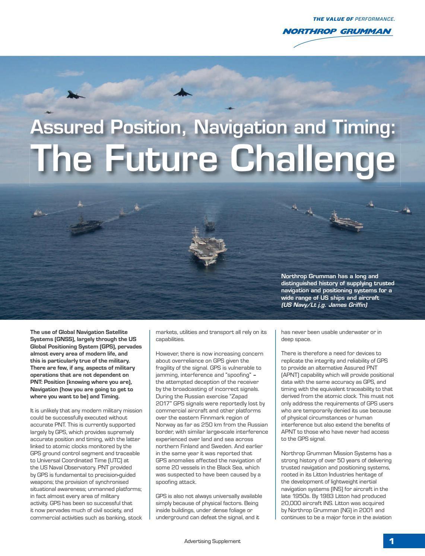 Sponsor Content] Northrop Grumman - Future Challenge by Jane's by