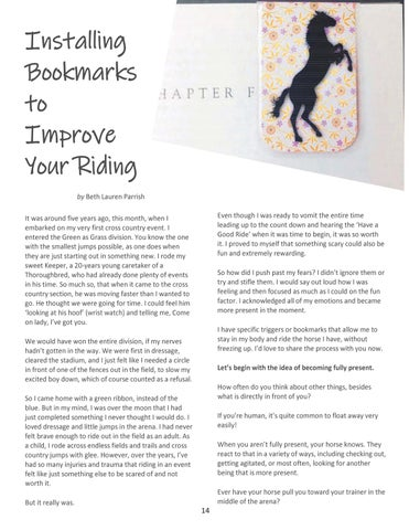 Page 14 of Installing Bookmarks to Improve Your Riding