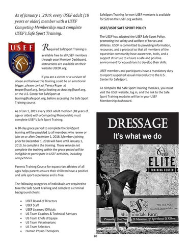 Page 18 of USEF Safe Sport