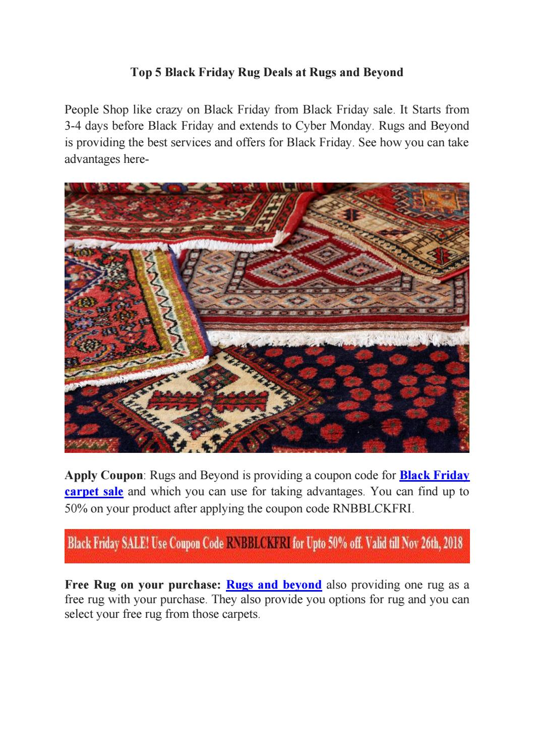 Top 5 Black Friday Rug Deals And Offers
