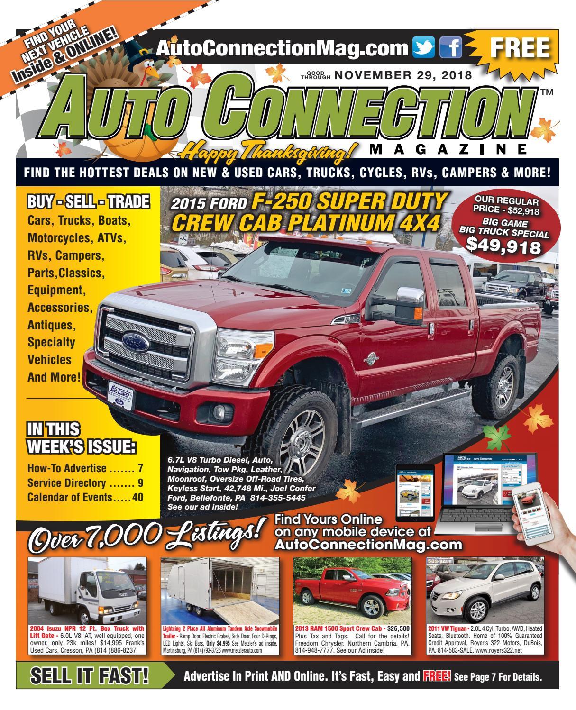 11-29-18 Auto Connection Magazine by Auto Locator and Auto