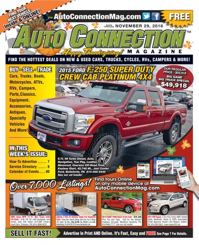 11 29 18 Auto Connection Magazine By Auto Locator And Auto