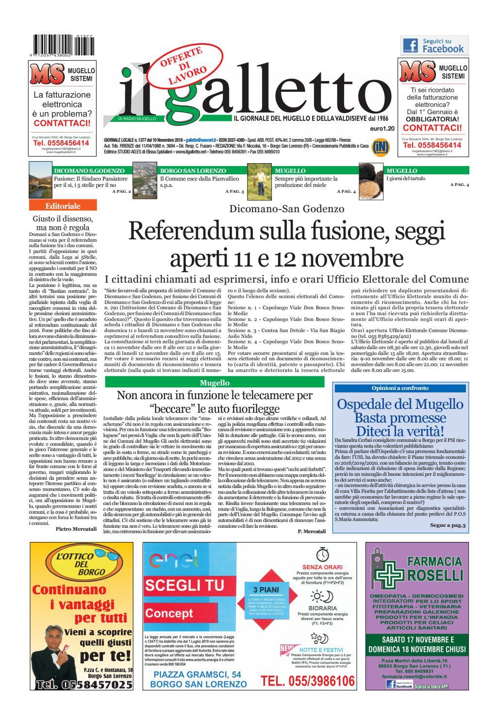 08a30f0374 galletto n° 1377 del 10 novembre by Il Galletto Giornale - issuu