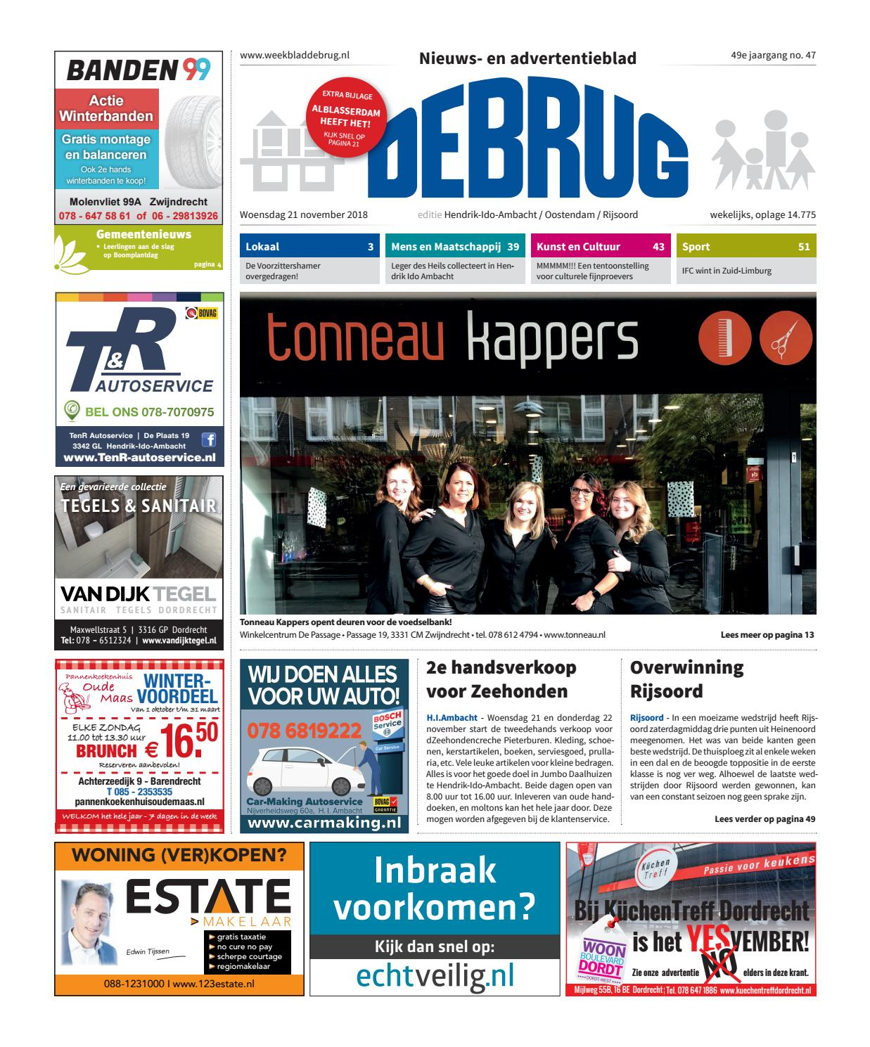 3c41d344d95 Weekblad De Brug - week 47 2018 (editie Hendrik-Ido-Ambacht) by Uitgeverij  De Brug - issuu