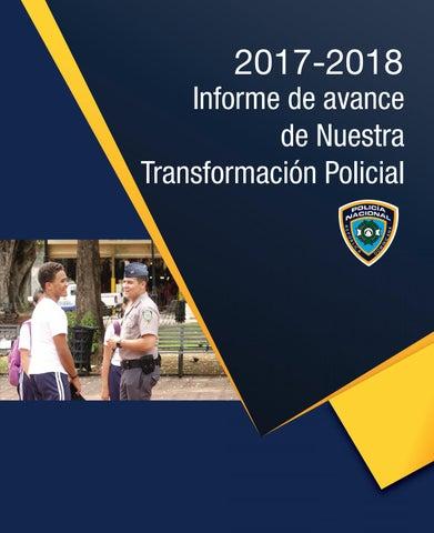 2017 2018 Informe De Avance De Nuestra Transformación