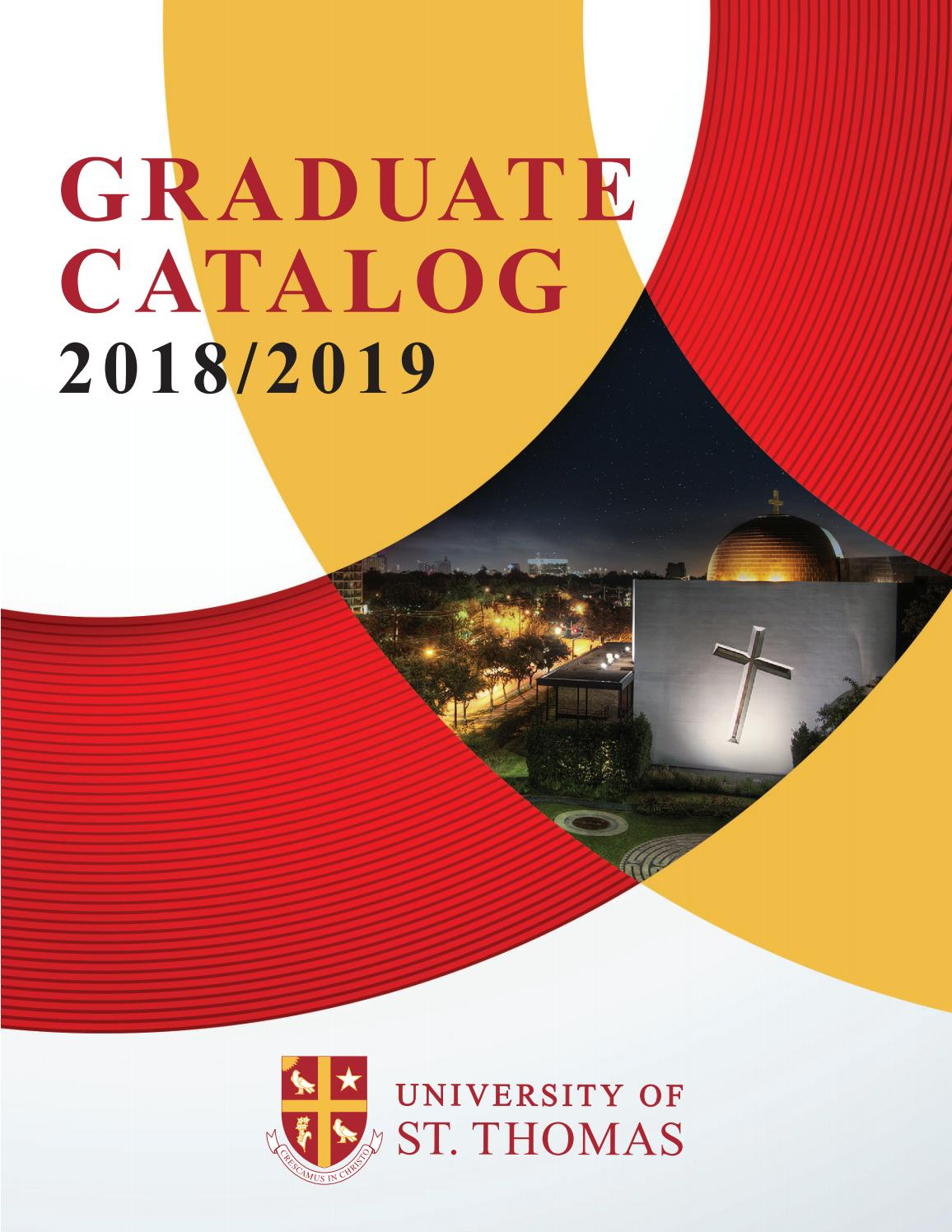 University of St. Thomas Graduate Catalog by university of st. thomas -  issuu