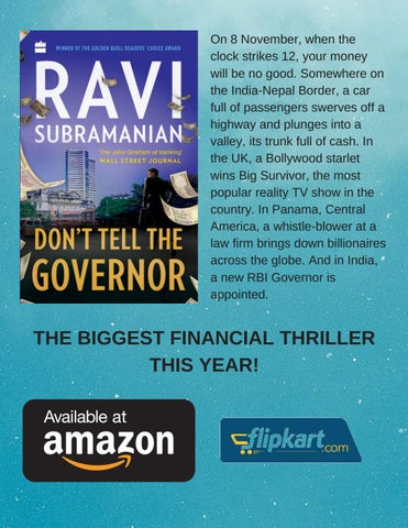 Page 9 of The Maverick of Financial Thrillers is back with another Bestseller