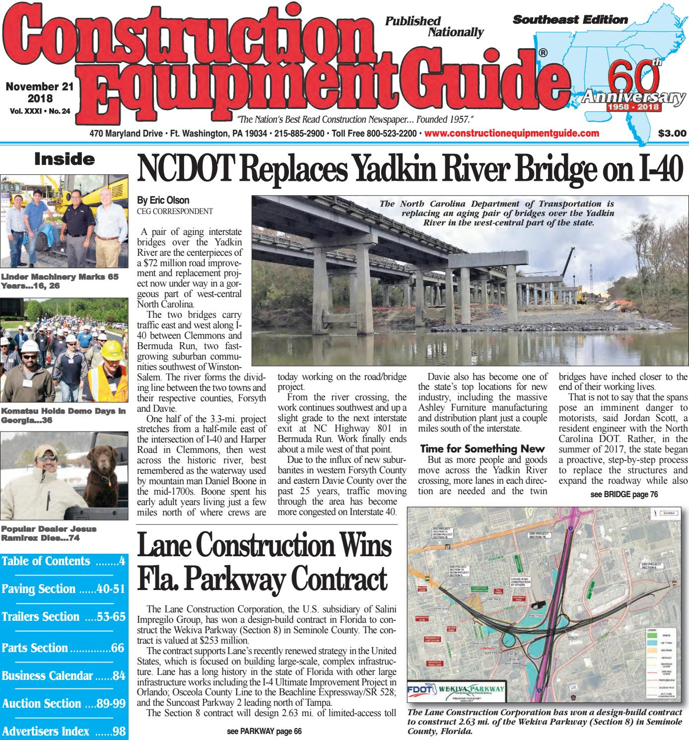 Southeast 24 November 21, 2018 by Construction Equipment ... on