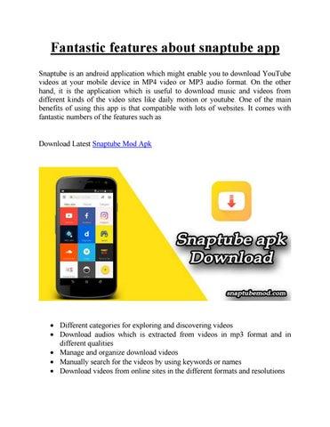 How to use Snaptube apk by Amelia Kelly - issuu
