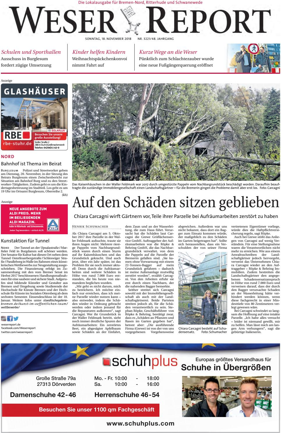 Weser Report - Nord vom 18.11.2018 by KPS Verlagsgesellschaft mbH ...