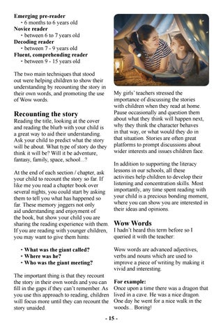 Page 17 of Reading, Recounting and Wow Words