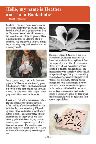 Page 24 of Hello, My Name is Heather and I'm a Bookaholic