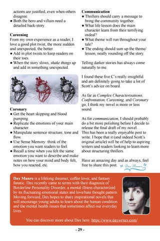 Page 31 of The Thriller Genre and the Five C's