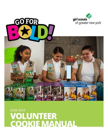 Volunteer Cookie Manual 2018-2019 by Girl Scouts of Greater New York