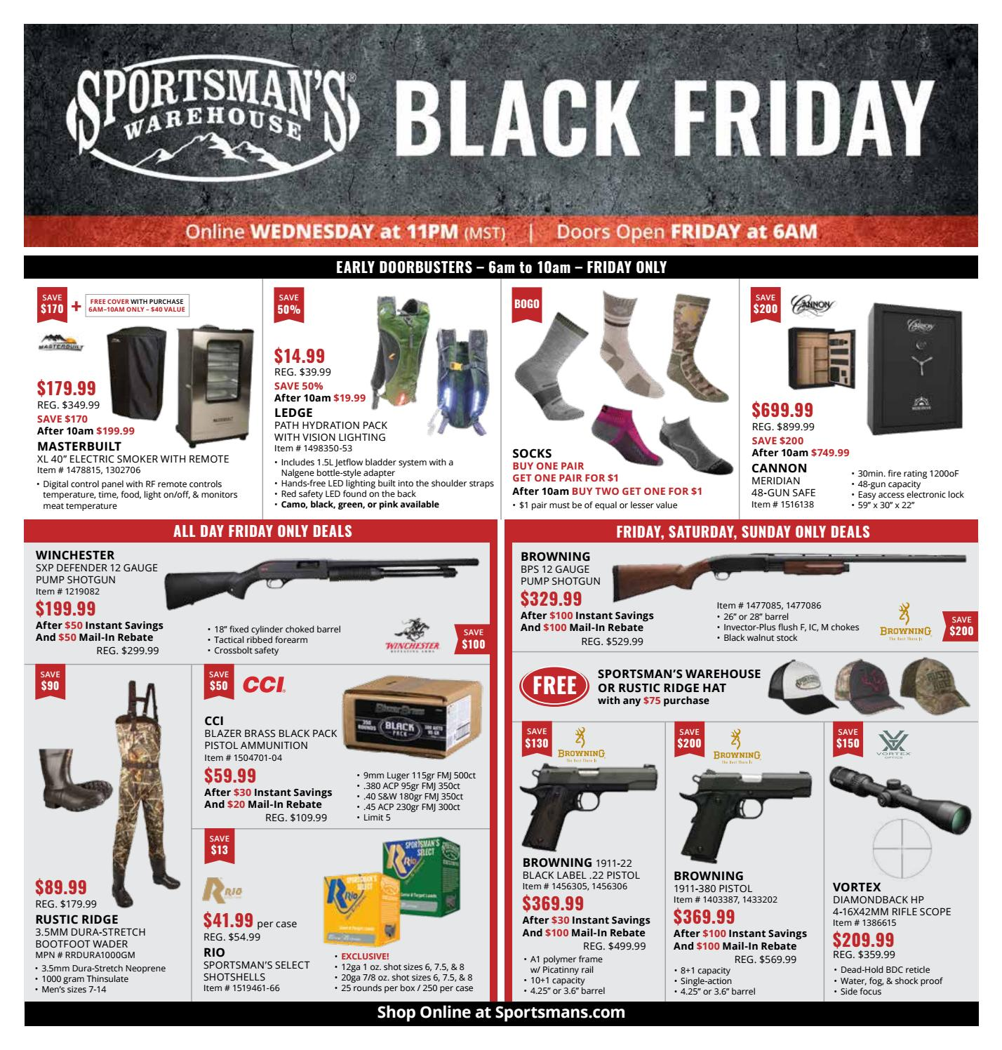 Sportsman's Warehouse Black Friday 112318 by Exchange