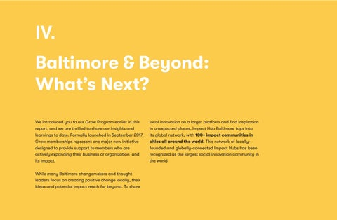 Page 26 of Baltimore & Beyond: What's Next?
