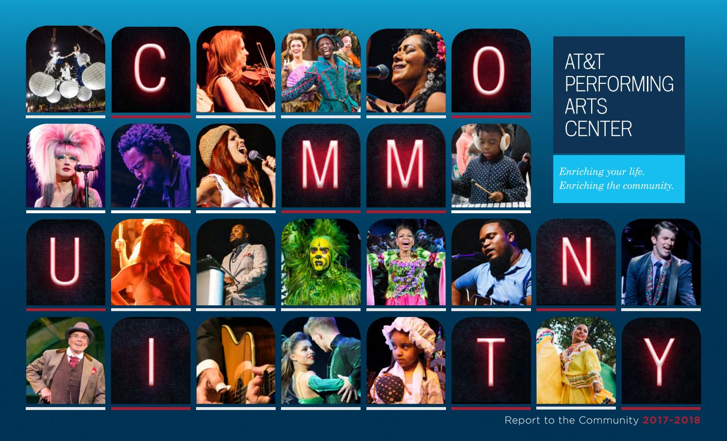 AT&T Performing Arts Center Annual Report To The Community