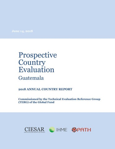 Prospective Country Evaluation 2018 Annual Country Report