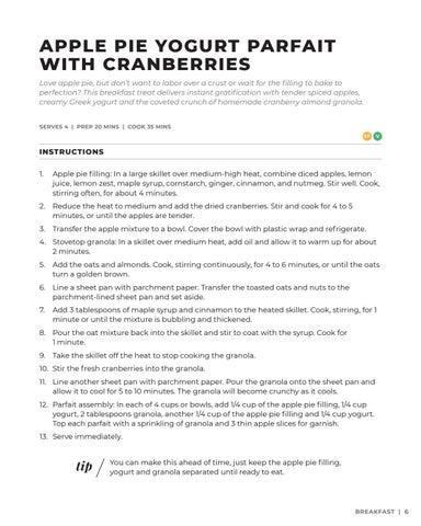 Page 7 of Apple Pie Yogurt Parfait with Cranberries