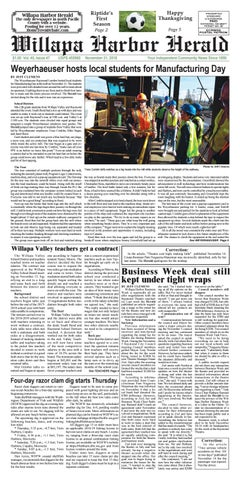 November 21, 2018 Willapa Harbor Herald by flannerypubs - issuu
