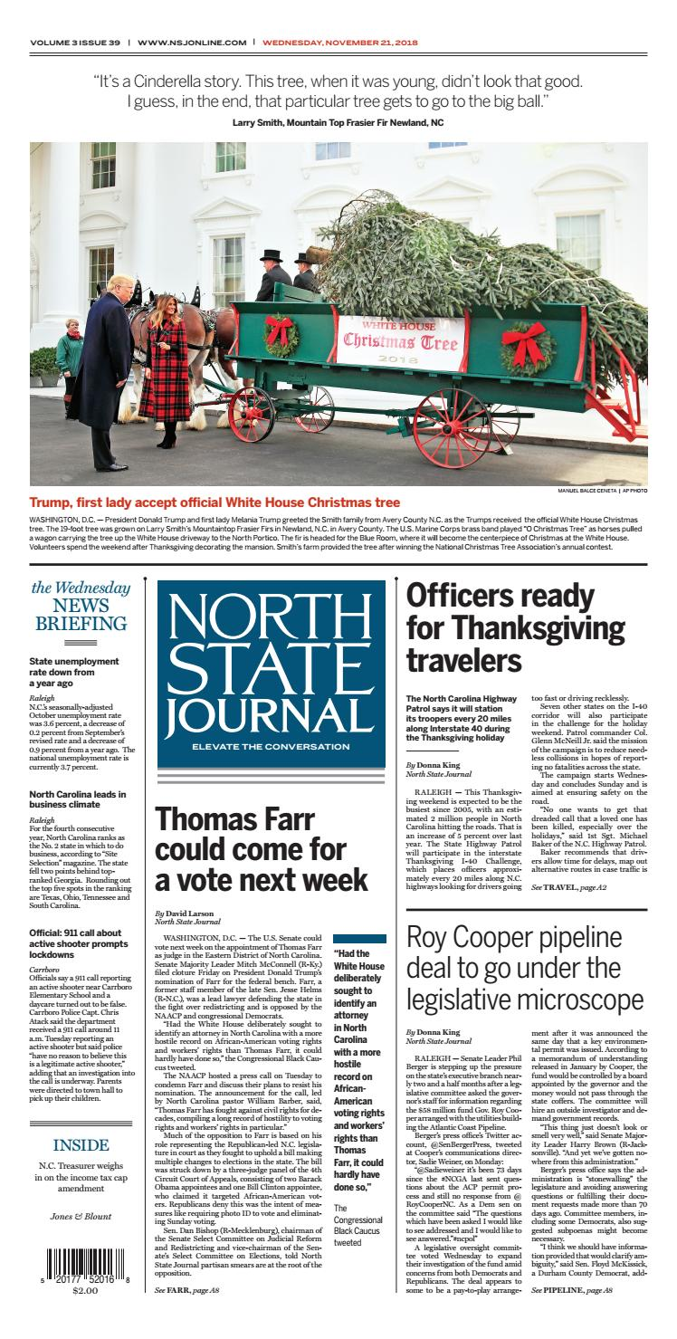 North State Journal Vol  3, Issue 39 by North State Journal
