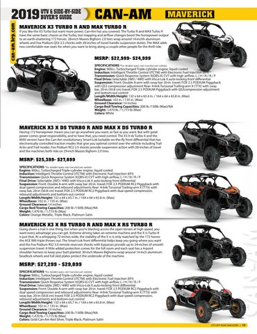 Page 17 of 2019 UTV Buyer's Guide