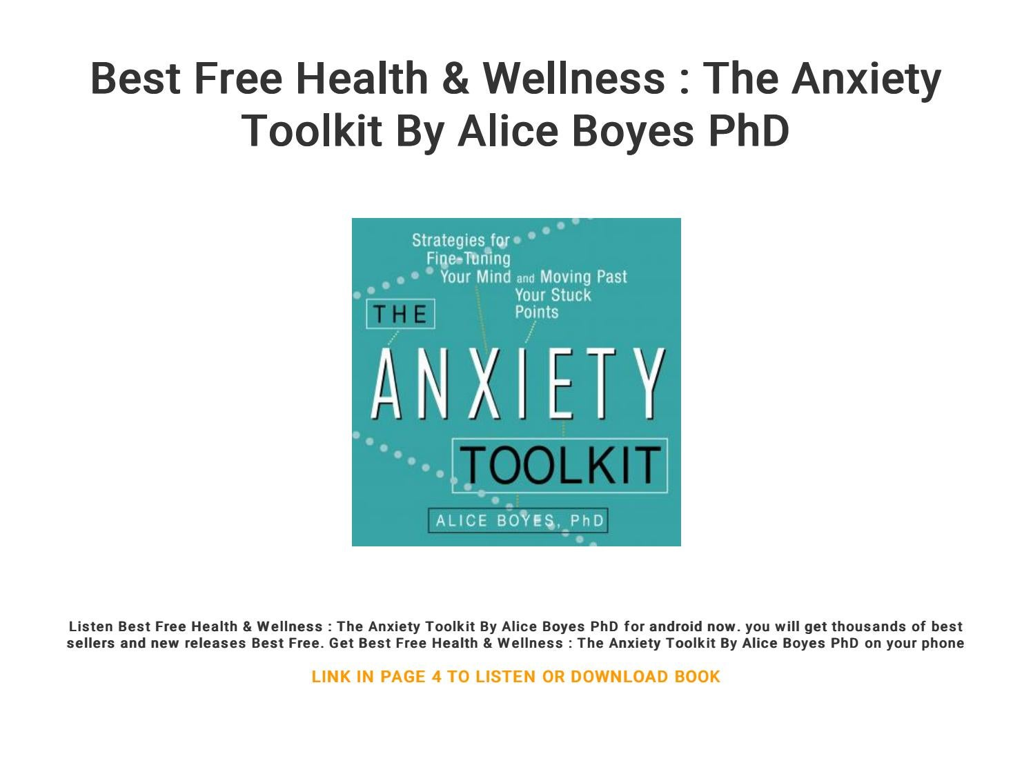 Best Free Health & Wellness : The Anxiety Toolkit By Alice