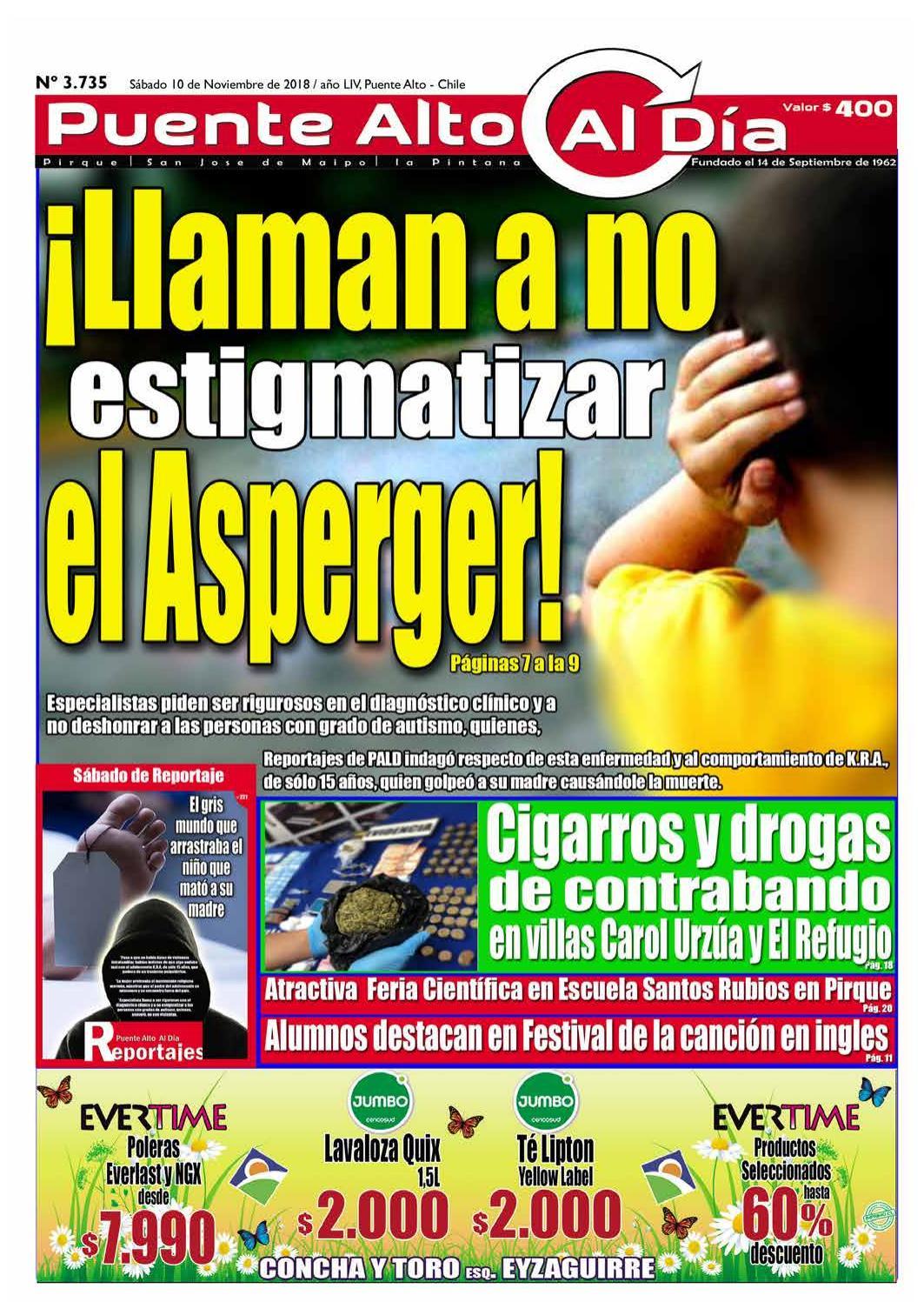 Edicion N 3 735 10 De Noviembre 2018 By Puente Alto Al Dia Issuu