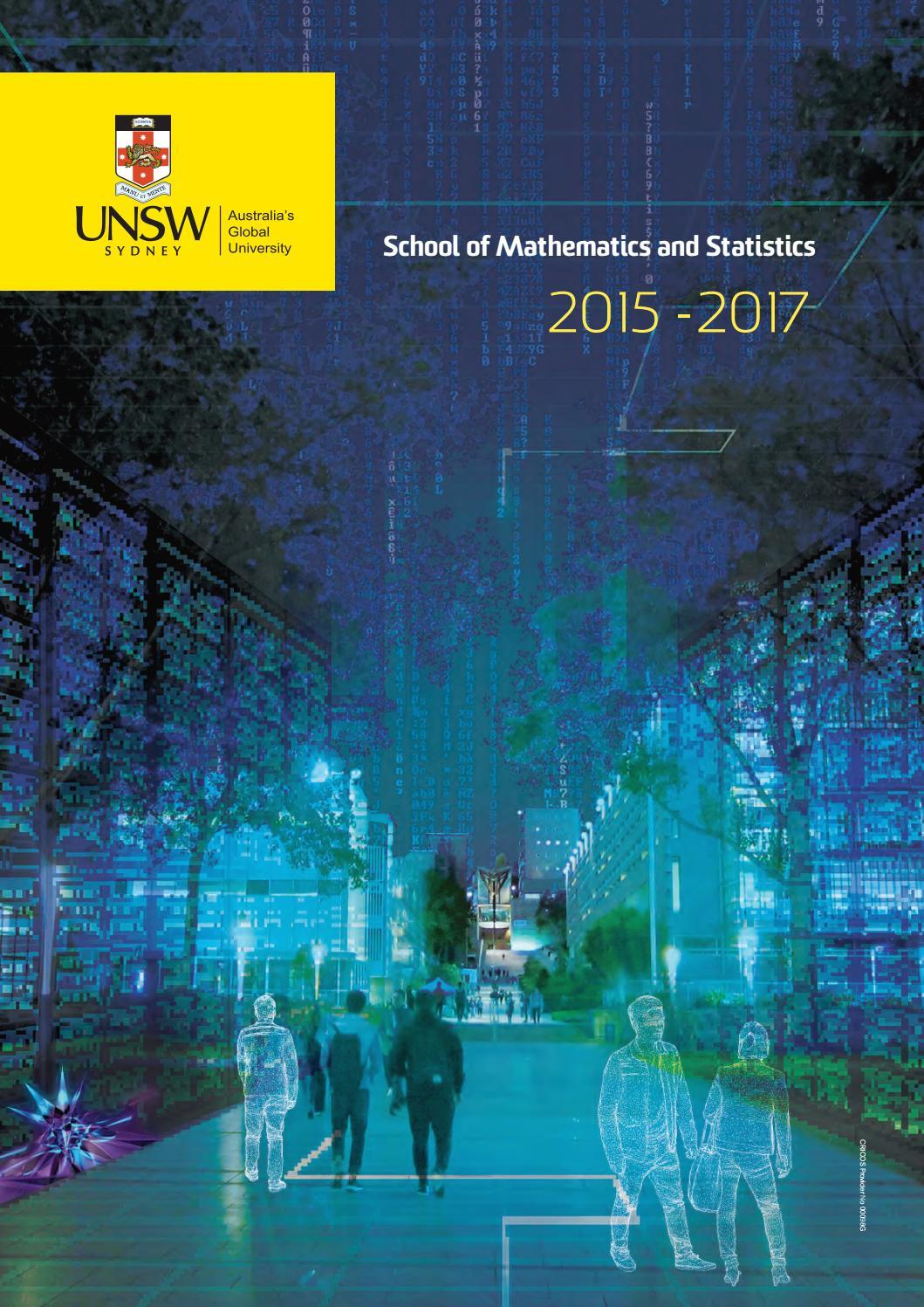 UNSW School of Mathematics & Statistics 2015-2017 by