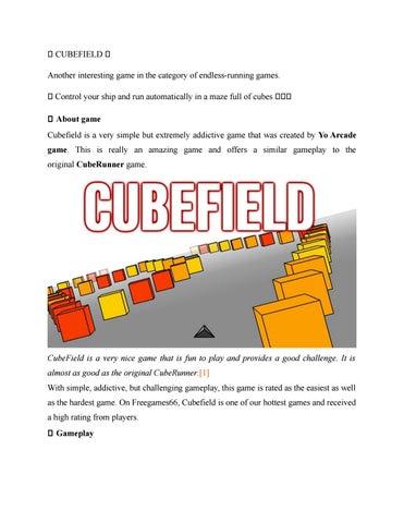 Cubefield By Freegames66 Issuu
