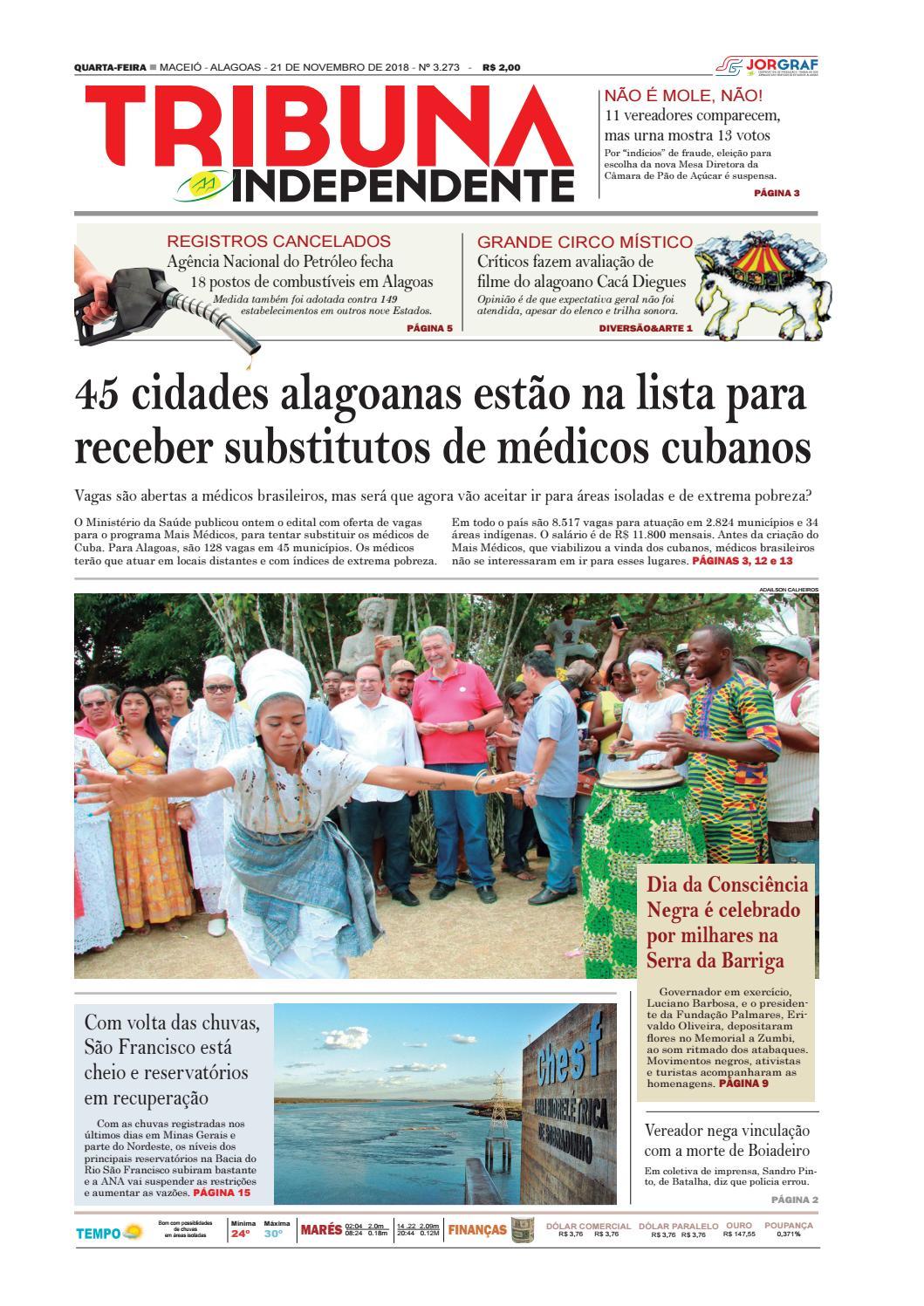 Edição número 3273 - 21 de novembro de 2018 by Tribuna Hoje - issuu 30e80aea56907