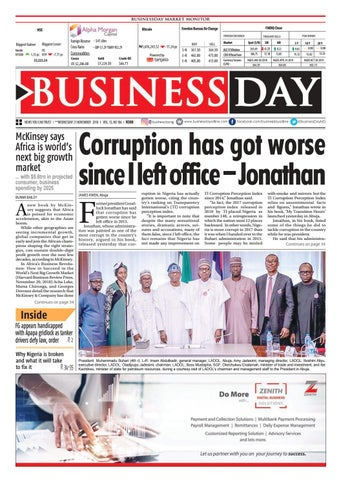 BusinessDay 21 Nov 2018 by BusinessDay - issuu