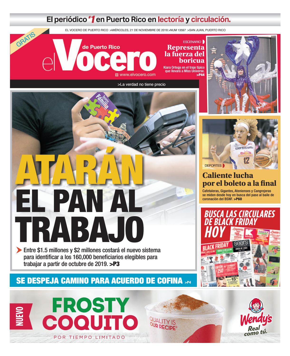 d05a10abc0 Edición del 21 de noviembre de 2018 by El Vocero de Puerto Rico - issuu