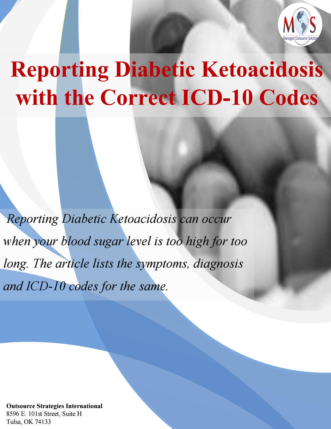 icto 10 diabetes cetoacidosis