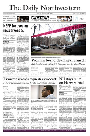 88abcf623 The Daily Northwestern -- November 20