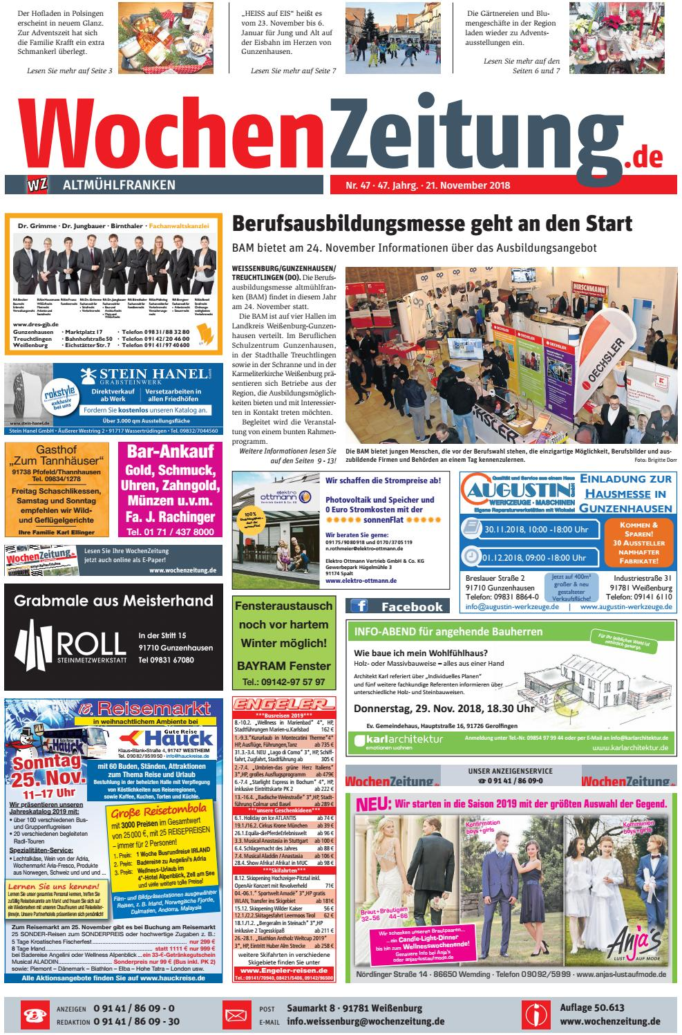 Wochenzeitung Altmuhlfranken Kw 47 18 By Wochenzeitung