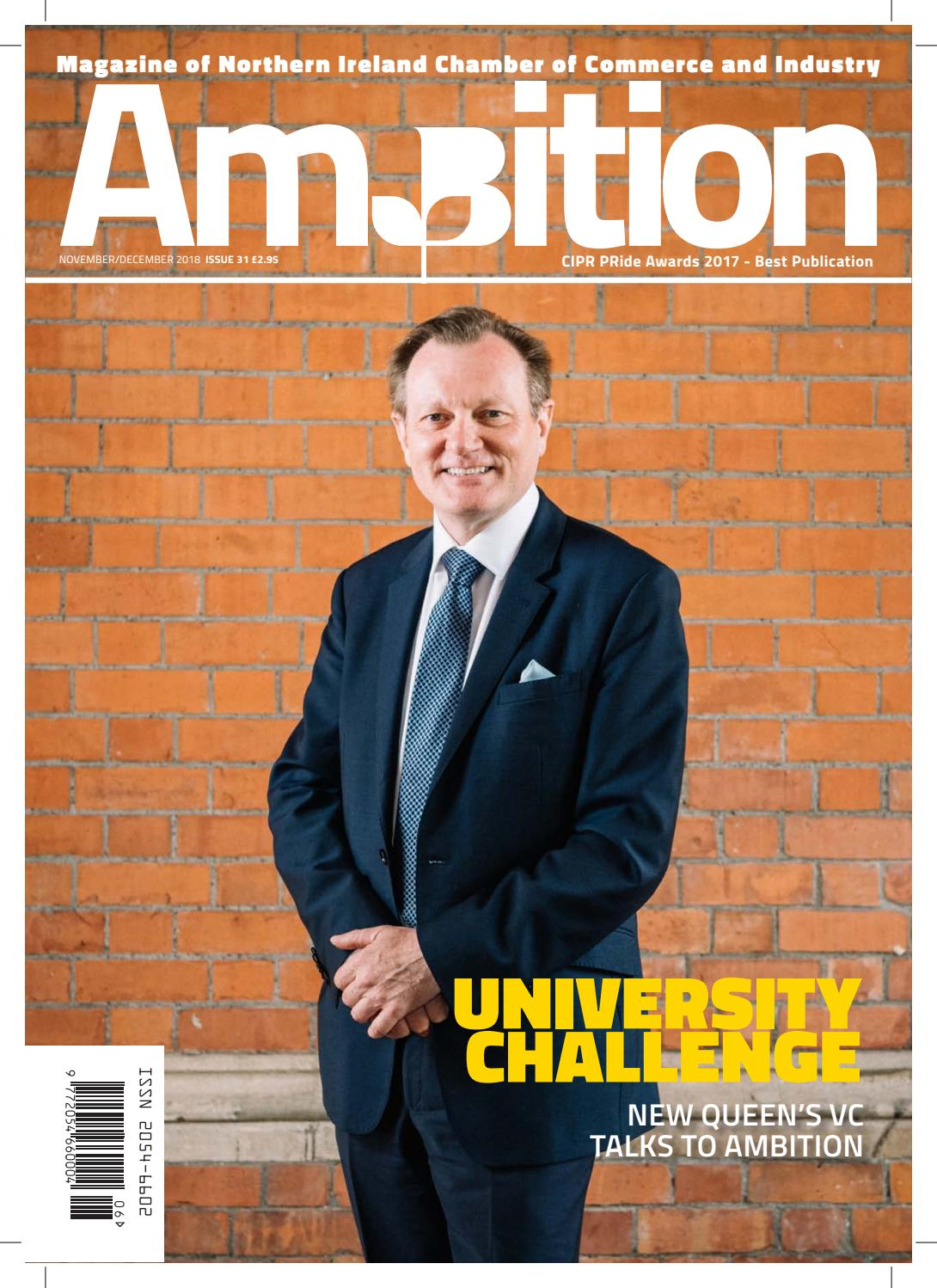 15998e6f3d0b57 Ambition Issue 31 (November December 2018) by NI Chamber of Commerce and  Industry - issuu