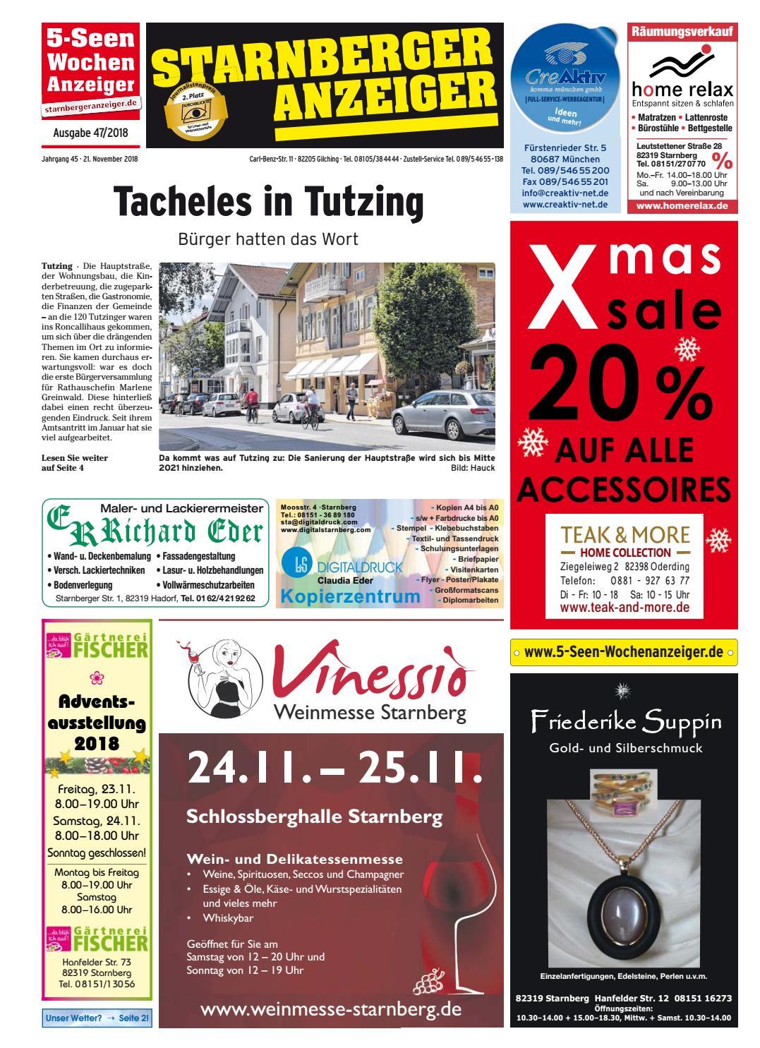 Kw 47 2018 By Wochenanzeiger Medien Gmbh Issuu