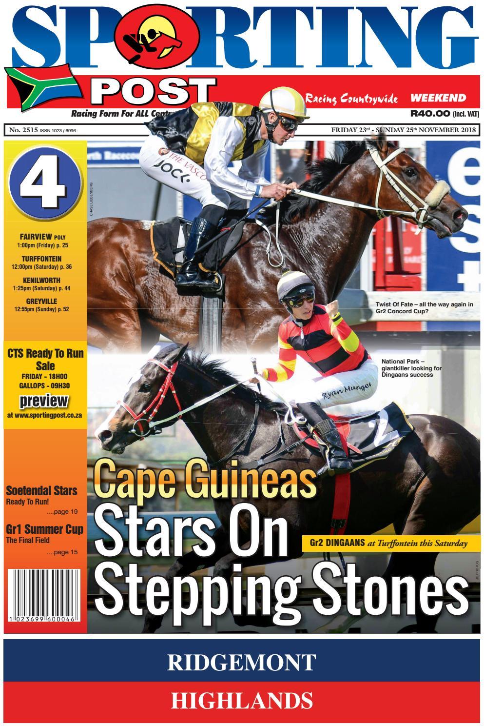 23-25 Nov #2515 Sporting Post by Sporting Post - issuu