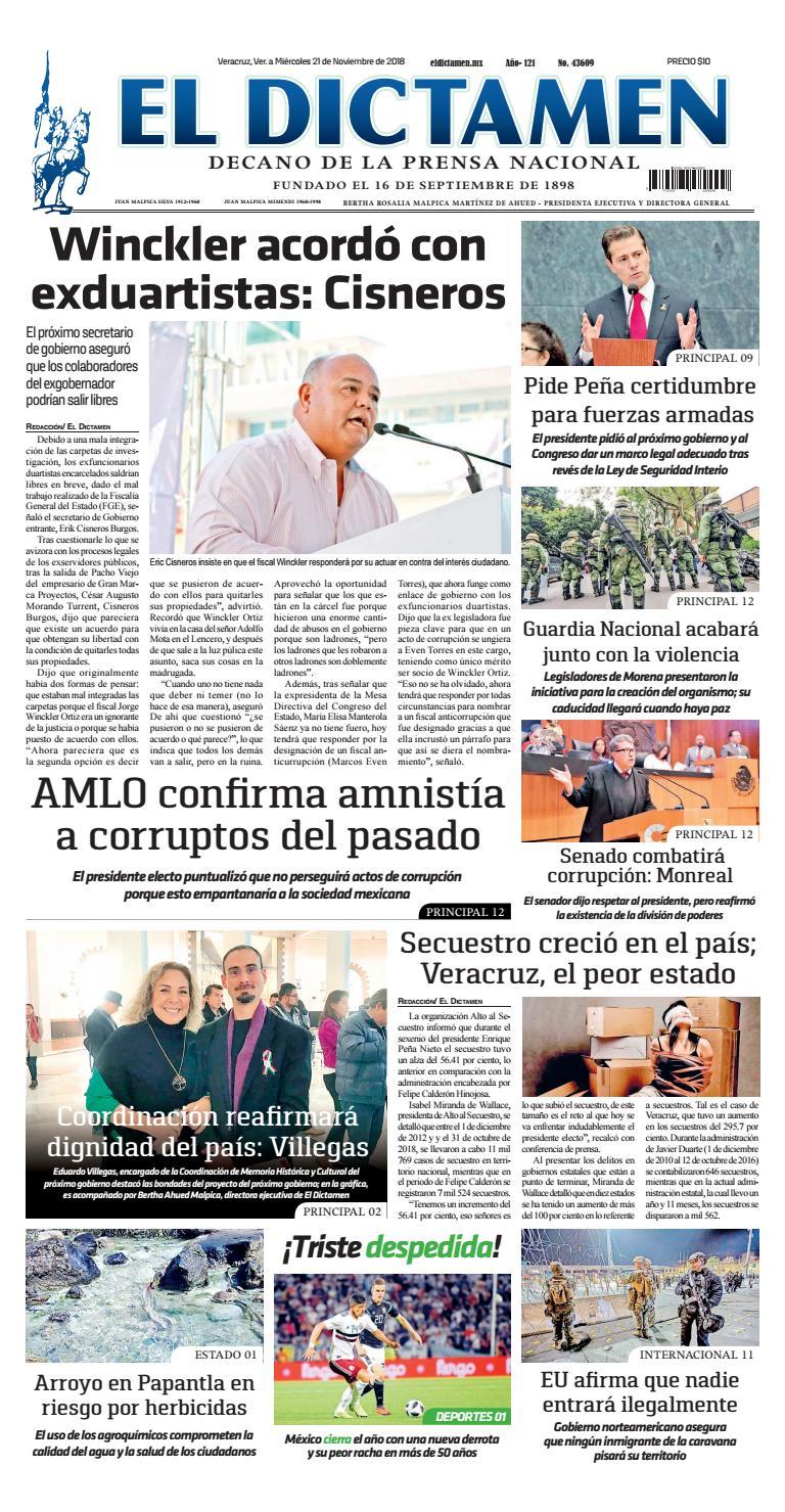 El Dictamen 21 de Noviembre 2018 by El Dictamen - issuu