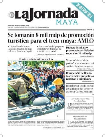 3623b55f74b La Jornada Maya · miércoles 21 de noviembre de 2018 by La Jornada ...
