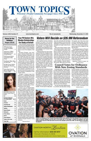 76512a97ffe6 Town Topics Newspaper, November 21 by Witherspoon Media Group - issuu