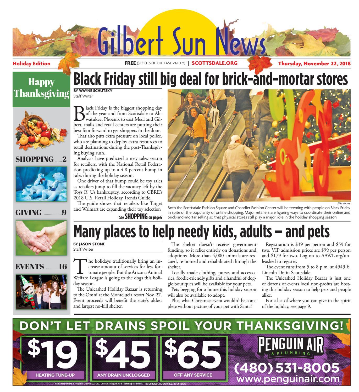 Gilbert Sun News - Thanksgiving November 22, 2018 by Times