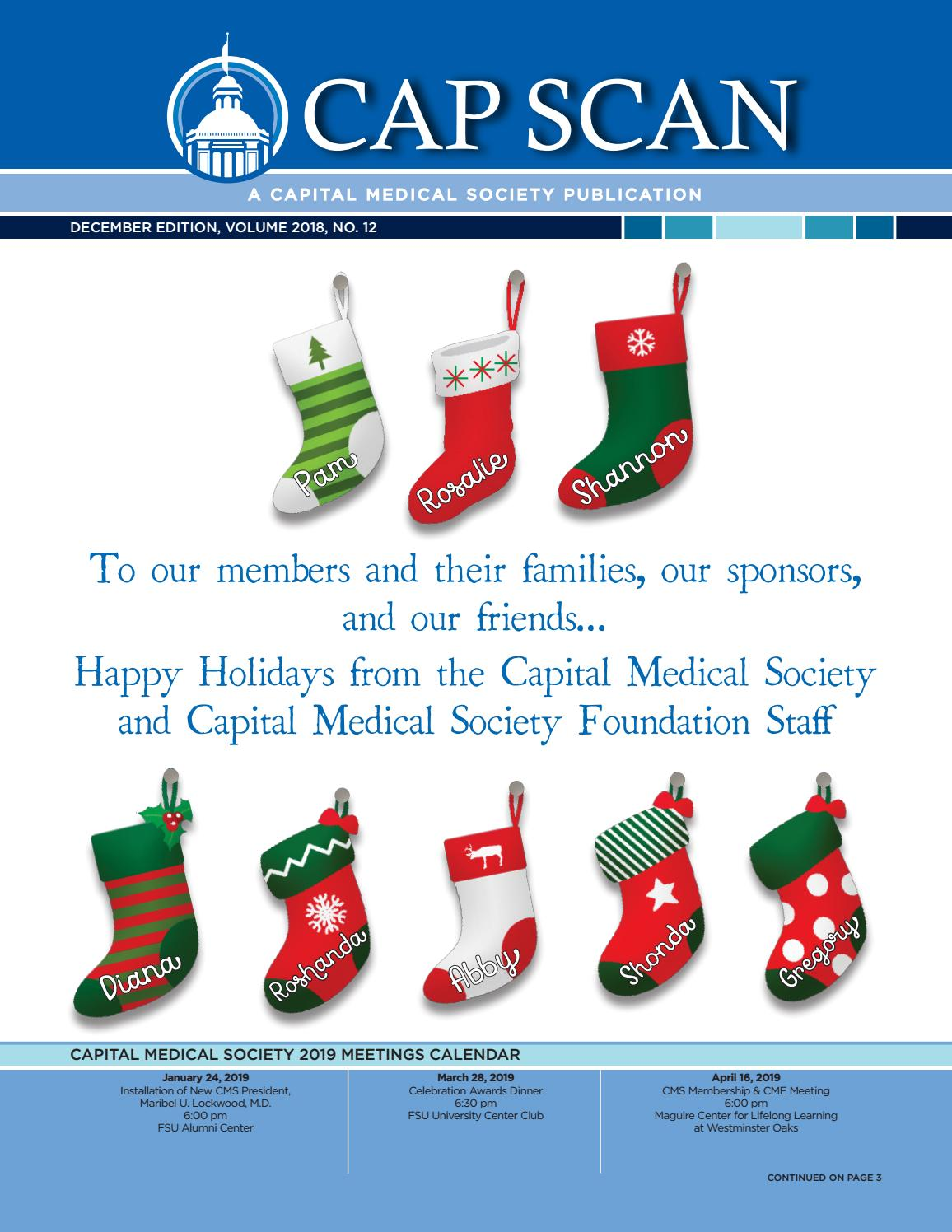 Cap Scan December 2018 By Capital Medical Society Issuu