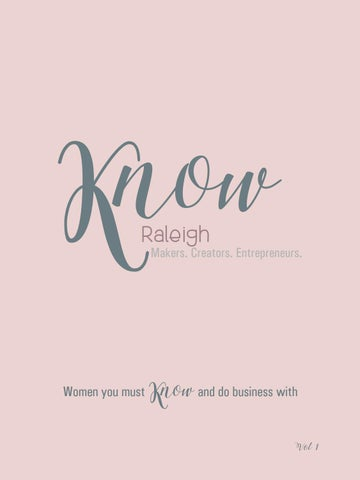 KNOW Raleigh Book + Tribe by KNOW Publications - issuu