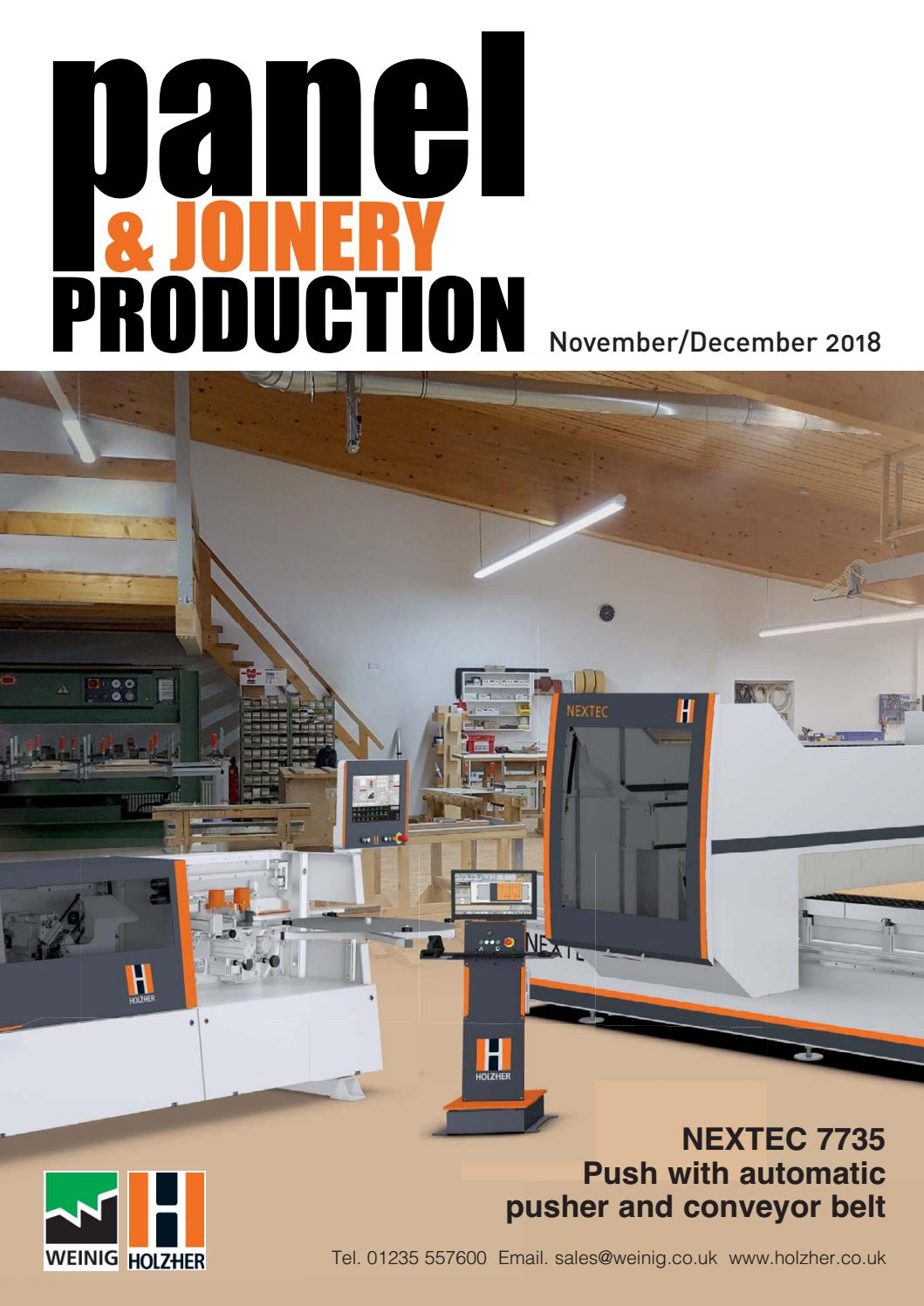 panel & joinery production - november/december'18first