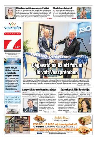 Veszprémi 7 Nap - 2018. 11. 22. by Maraton Lapcsoport Kft. - issuu 8e74439773