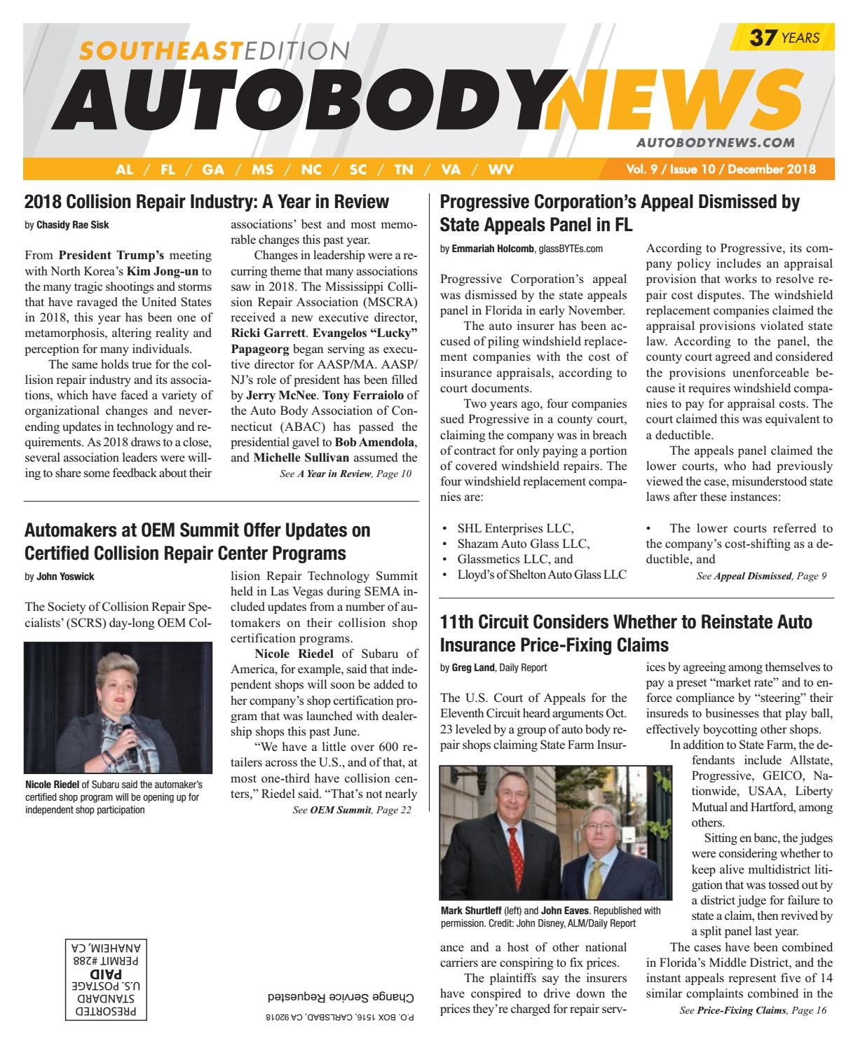 December 2018 Southeast Edition by Autobody News - issuu