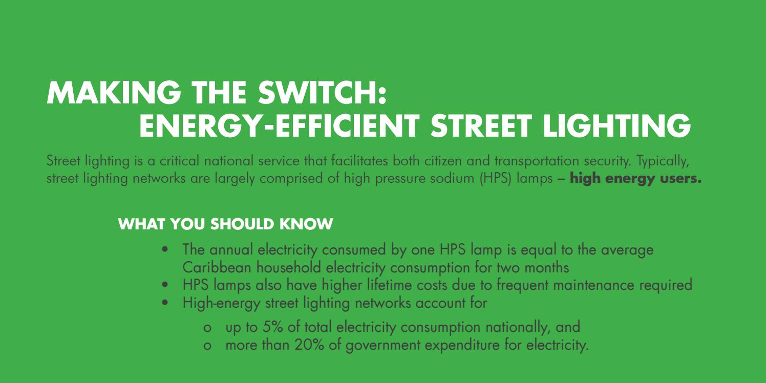 Making The Switch Energy Efficient Street Lighting By